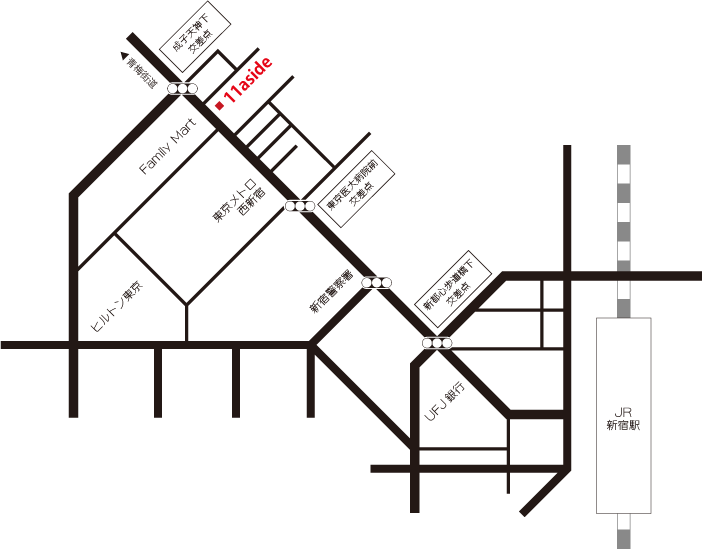 株式会社 11aside 周辺地図